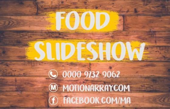 Pr模板 食物菜单 酒店动态图文介绍名片 Food Slideshow