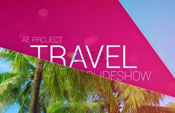 AE模板 时尚旅游照片分屏切换过渡幻灯片 Travel Slideshow