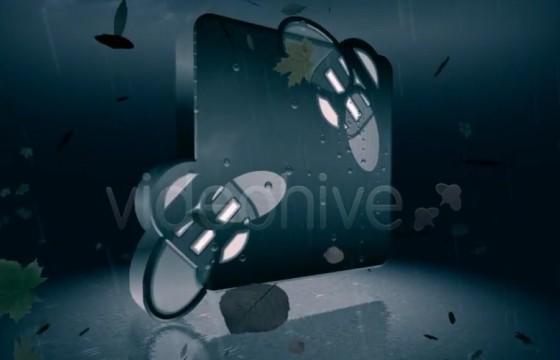 AE模板 真实雨滴LOGO标志展示片头 Videohive Rainy logo