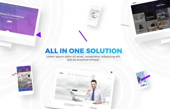 AE模板 网站网页介绍宣传广告 Website Agency Presentation