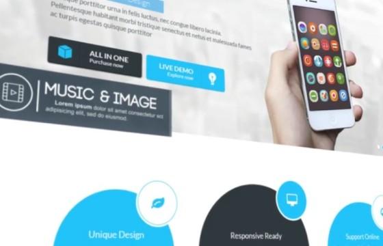 AE模板 个人/企业网站功能内容演示介绍 Website Presentation