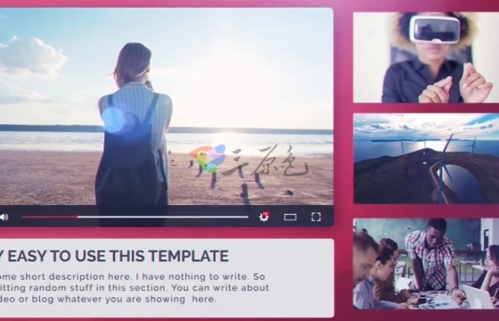 AE模板 视频网站会员广告视频宣传 Youtube Promo