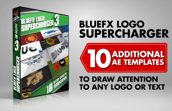 AE模板 10个LOGO标志动画演绎片头模板合集 Logo Supercharger