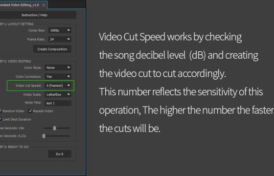 AE音频视频自动剪辑脚本 Automated Video Editing v1.11