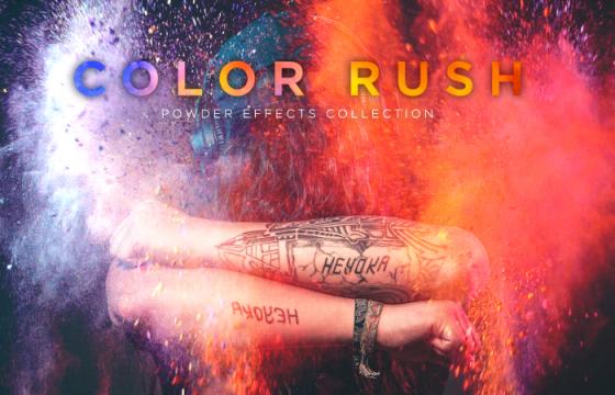4K高清视频特效素材 彩色水彩拨墨 彩色粉尘爆炸特效