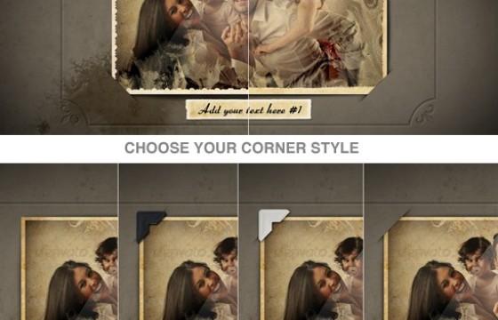 AE模板 水墨散开家庭照片相框相册模板 Family Album