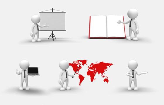 AE模板 60个各行业三维符号 商务卡通小人动画 3D People