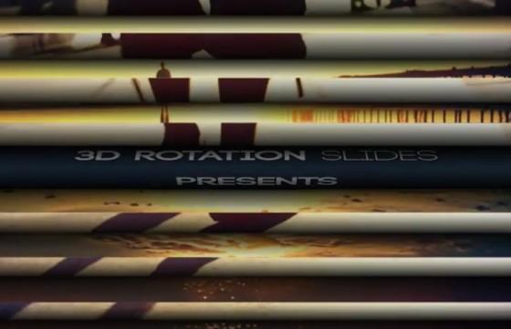 AE模板 三维百叶窗翻转过渡动画 3D Rotation Slides