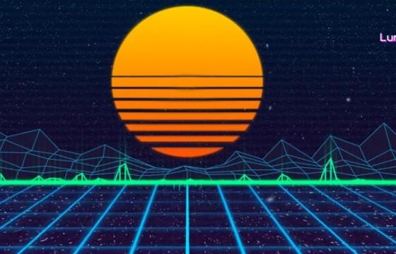 AE模板 80s音频频谱动画LOGO展示 80s Audio Spectrum