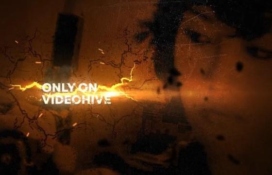 AE模板 动作 枪战 警匪片画面定格电影预告片头 Action Trailer