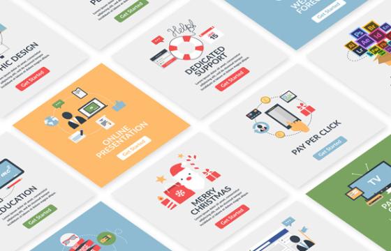 AE模板 手机移动设备MG场景平面动画广告设计 Animated Design