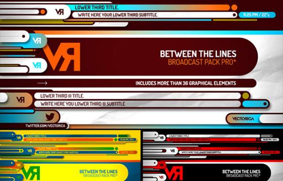 AE模板 字幕条 动态图形动画工具包 Between the Lines