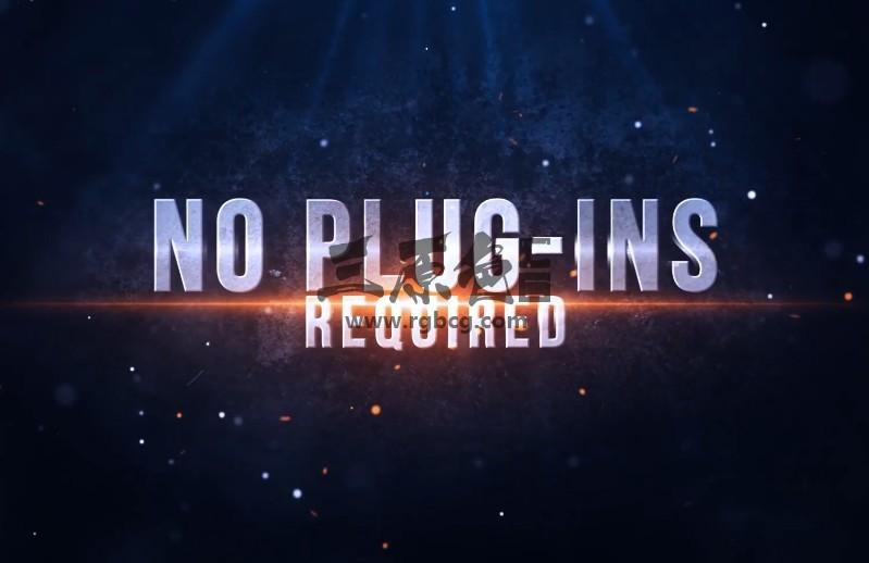 Pr模板预设 电影预告片文字标题Mogrt图形动画 Blockbuster Title Pr 模板-第1张