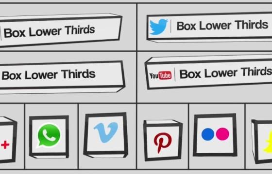 AE模板-创意三维盒子人名字幕条动画 Box Lower Thirds