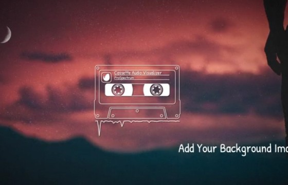 AE模板 老式录音机磁带音频频谱动画 Cassette Audio Visualizer