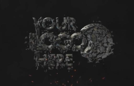 AE模板 电影LOGO文字粉碎动画特效 Cinematic Shatter Logo
