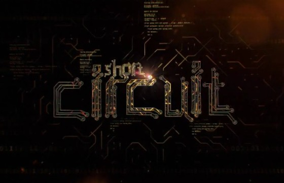 AE模板 电路线板LOGO文字标题展示动画 Circuit Logo