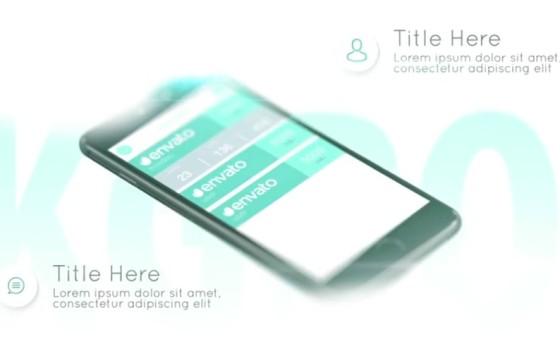 AE模板 手机APP应用程序广告促销展示 Clean App Promo