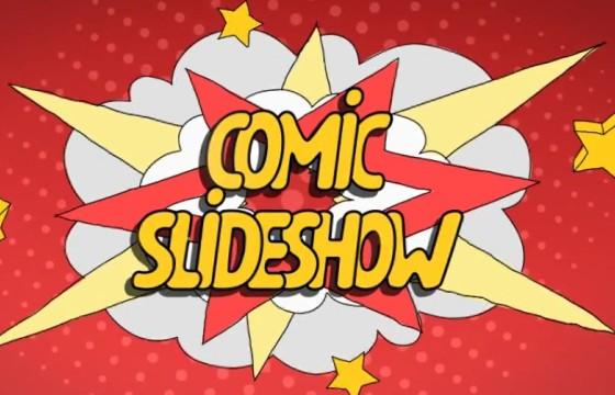 AE模板 手绘漫画风格图片幻灯片 Comic Slideshow