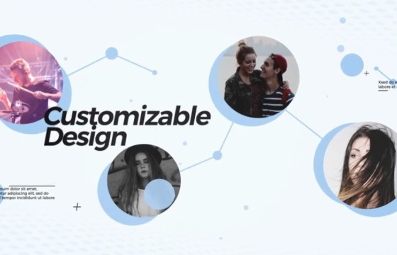 AE模板 创意人物关系图谱动画介绍 Community Opener