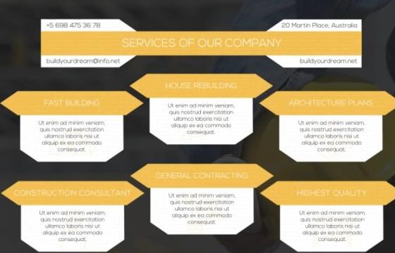AE模板 房地产施工建筑公司字幕条介绍动画 Construction Presentation