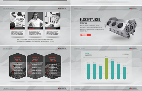 AE模板 公司企业数据报表图表人物介绍 Corporate Presentation Unfold