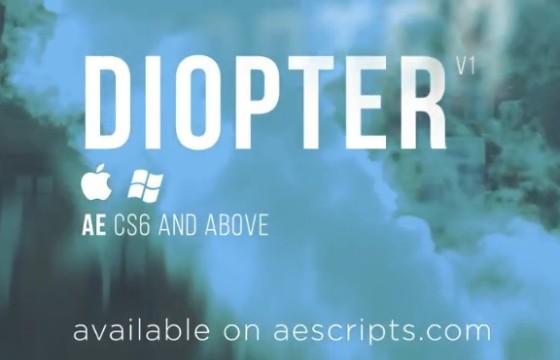AE插件 创建出色的视频光学效果插件 Diopter v1.01一键安装版