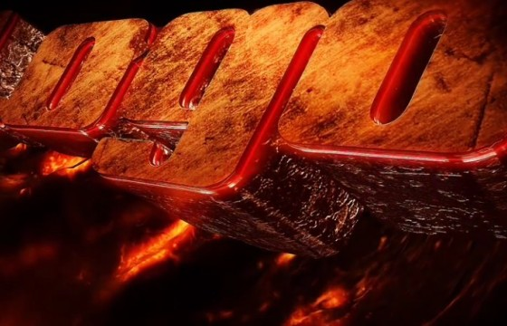 AE模板 暗黑熔岩风格E3D三维文字标题片头动画 Dark Logo