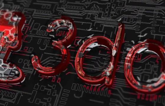 AE模板 电路线板LOGO动画片头展示 Digital Logo build