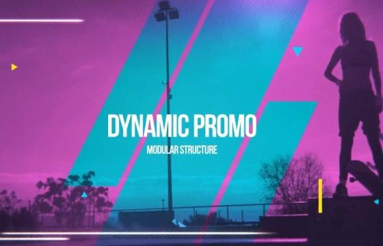 AE模板 嘻哈摇滚风格动态图形幻灯片展示 Dynamic Slideshow