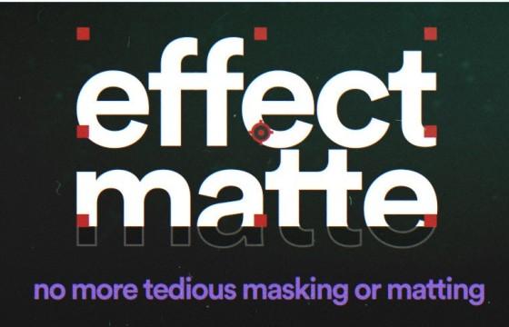 AE插件-高级遮罩蒙版定制插件 Effect Matte v1.2 中文汉化版