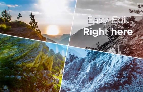 AE模板 创意照片四季变换优雅幻灯片展示 Elegant Slideshow