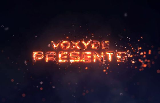 AE模板 史诗般的火焰文字标题片头预告片 Epic Fire Titles