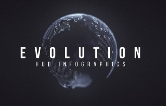 AE模板 HUD进化信息图 Evolution HUD Infographic