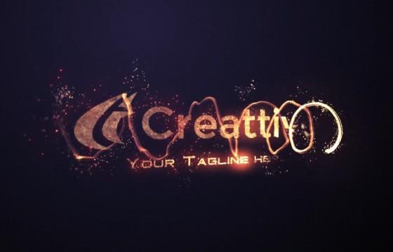 AE模板-粒子火焰文字特效动画片头 Videohive Fire Logo