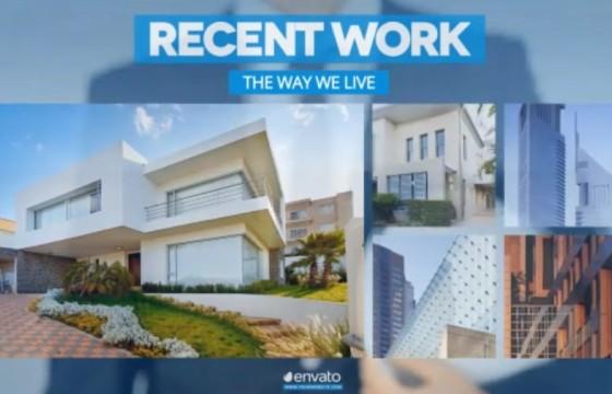 AE模板 公司企业展示 未来建筑 手势点击动画 Future of Architecture