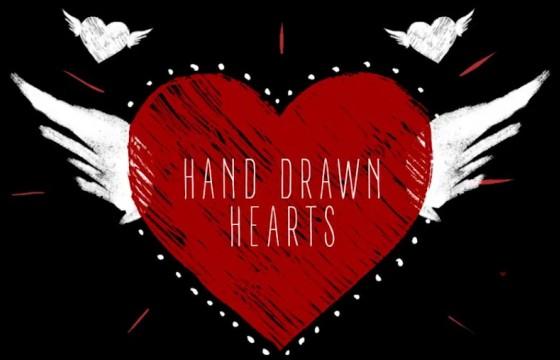 AE模板 手绘涂鸦心形图形动画 Hand Drawn Hearts
