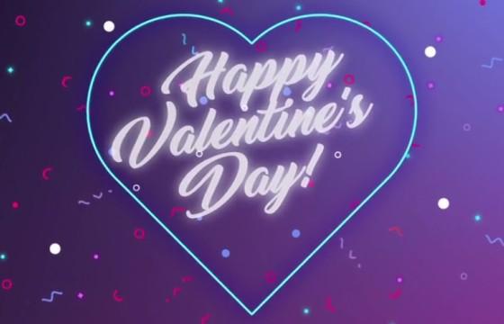 AE模板 快乐情人节文字标题LOGO片头 Happy Valentine logo