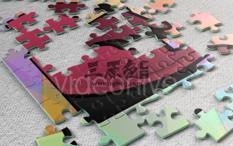AE模板 拼图动画LOGO片头展示 Jigsaw Puzzle Logo Reveal Ae 模板-第1张