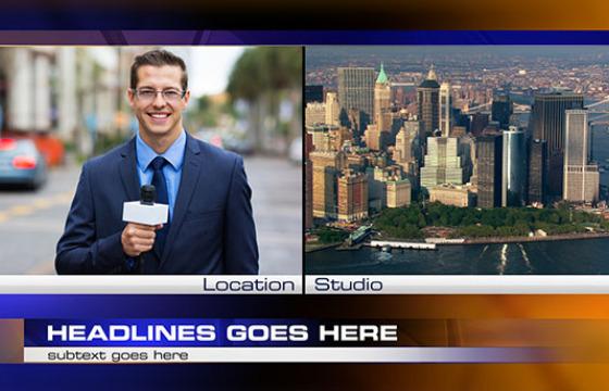 AE模板 新闻栏目包装字幕条动画 Local News Pack 2