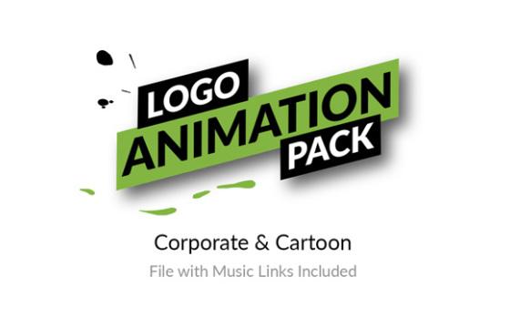 AE模板 32个创意LOGO标志MG图形手势动画 Logo Animation