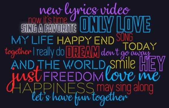 AE模板 歌词和声音创意文字排版动画 Lyrics Typography