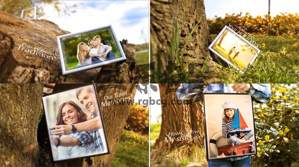 AE模板 家庭照片相框 创意展示动画 Our Family Holiday Ae 模板-第1张