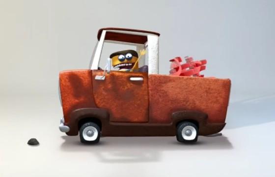 AE模板 卡通动画货车 LOGO展示片头 Pick-Up Logo
