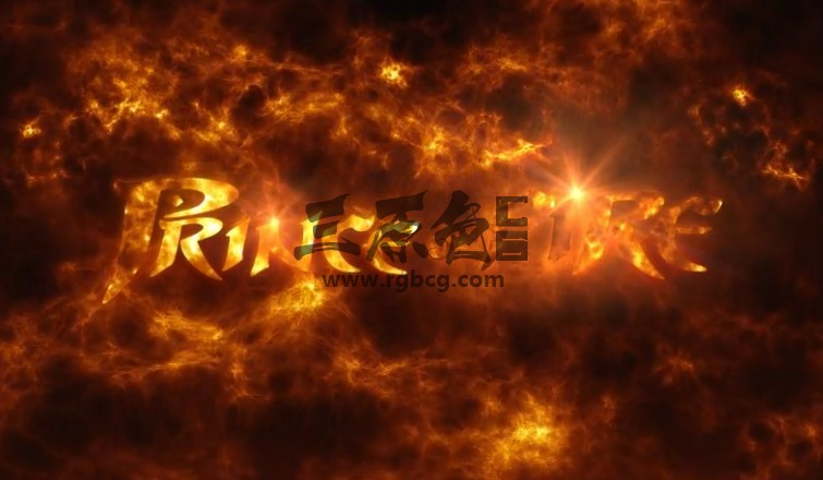 AE模板 火焰发光文字LOGO特效片头动画 Prince of Fire logo Ae 模板-第1张