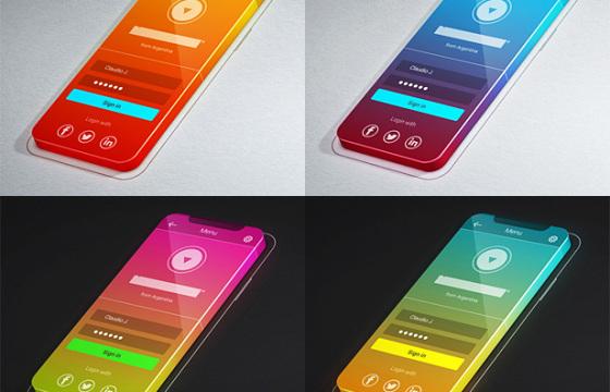 AE模板 3D手机移动应用程序促销广告 Screens App Promo