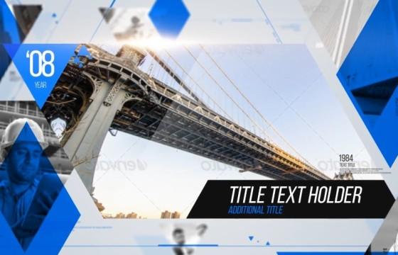AE模板 创意三维视差三角形分屏幻灯片 Slideshow Triangle