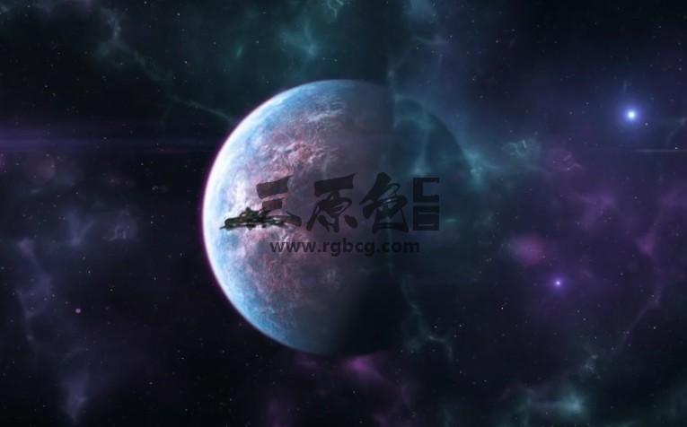 AE模板 太空飞船LOGO标志展示片头 Spaceship Logo Reveal Ae 模板-第1张