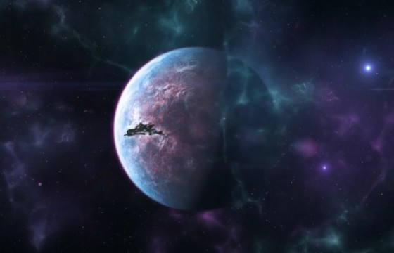 AE模板 太空飞船LOGO标志展示片头 Spaceship Logo Reveal