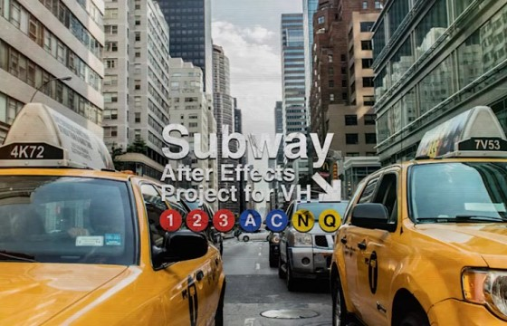 AE模板 城市噪点嘻哈风格字幕条幻灯片 Videohive Subway